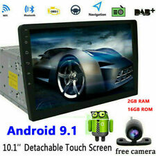 Android 9.1 2 DIN Car GPS Stereo Player 10.1'' 2GB RAM Mirror Link FM Radio+CAM