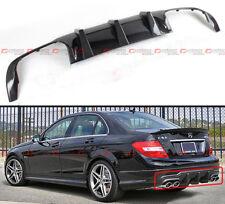QUAD EXHAUST TIP CARBON FIBER REAR DIFFUSER FOR 2012-14 BENZ W204 C63 AMG BUMPER