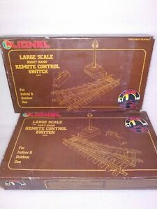 Lionel G Scale LEFT & RIGHT HAND Remote Control Switch 82007 & 82008 NOS in Box