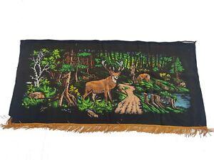757 - Beautiful Handmade Vintage Fine Wool Needlepoint Tapestry Wall Hanging.