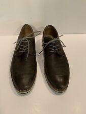 Hush Puppies Mens Titan Leather Oxford Shoes Lace Up Sz 11 Brown Medium Moyen