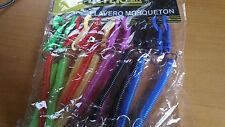 Llavero con mosqueton y cadena extensible plastico colores
