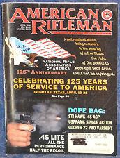 Magazine American Rifleman, APRIL 1996 !!! COOPER Model 22 PRO VARMINT RIFLE !!!