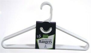 Merrick C86311SHW WHT White Super Heavy Weight Tubular Hanger With Hook 3 Count