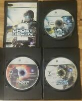 Xbox 360 Tom Clancy's Splinter Cell Double Agent Ghost Recon 1 2 Black Cases Lot