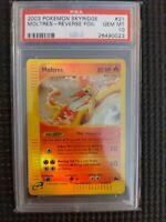 2003 Pokemon Skyridge Moltres Reverse Foil 21 PSA 10 Gem Mint Card