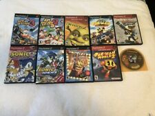 10 Ps2 Playstation 2 Game Lot Sonic Pac Man Crash Monkey Ball Ape Escape
