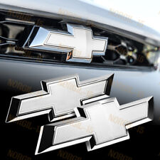 For 2014-2018 Chevy Chevrolet Impala Front Grille +Rear Bowtie Emblem Set White