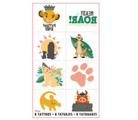LION KING 8 TATTOOS BIRTHDAY PARTY SUPPLIES