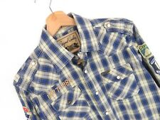 apr106 scotch&soda Camisa Occidental L/S TOP CUADROS AZULES ORIGINAL PREMIUM