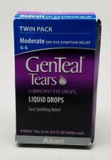 GenTeal Twinpack Eye Drops, Moderate 0.5 oz 9/2020