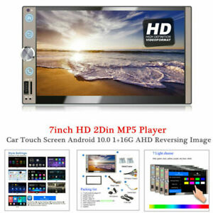 7inch HD 2Din MP5 Player WIFI Radio Car Touch Screen Android 10.0 1G+16G GPS AHD