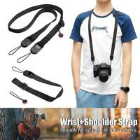 Quick Release DSLR Camera Cuff Wrist Belt&Leash Strap Buckle Shoulder Sling H4Q3