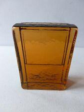 Lindshammar Swedish Glass Standing Slab Amber