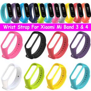 Fit XIAOMI MI Band 3 & MI Band 4 Silicon Handschlaufe Armband Armband Ersatz