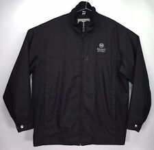 Bacardi Silver Jacket Black Men's Large Full Zip Coat Destinations American Id