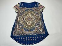 Lucky brand small s Persian carpet tee top shirt women short sleeve