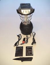 Hand Crank Rechargeable Dynamo Solar powered 36 LED Camping  Lantern & 2 Bonuses