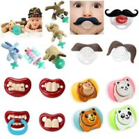 Animal Cartoon Baby Moustache Nipple Infant Silicone Pacifiers with Plush toy