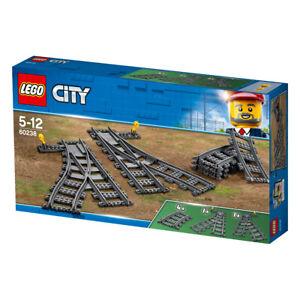 Lego City Switch Train Tracks with Curved Track Railroad Railway Set 60238