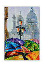 AT54378D Rainy Day in Venice By Leonid Afremov Abstract Wall Art Poster Prints