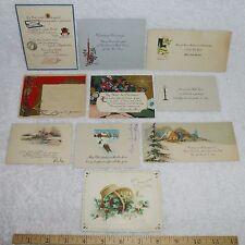 10 Vintage Christmas Cards Single Sided Sledding Wise Men Candles Funny Poem