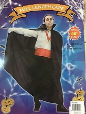"Full Length Poly Dracula Gothic Cape w/Collar 56"" Black New by RG 75052"