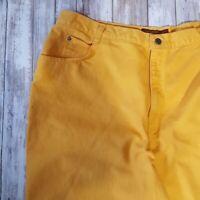 "Bonjour Vintage Yellow Mom Jeans 5 Pockets Waist 40"" Inseam 27"""