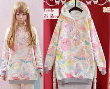 Girls Kawaii Cute Colorful lolita cartoon fantasy Lady GAGA barbie Hoodie Shirt