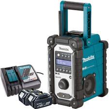 Makita DMR109 10.8v-18v LXT/CXT LI-ion Job Site Radio + 2 x 5.0Ah BL1850, DC18RC