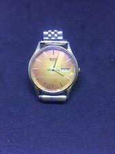 Men's Seiko Quartz Watch 5Y23-8039 rare orange sunburst dial