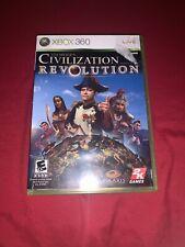 Sid Meier's Civilization Revolution (Microsoft Xbox 360, 2008) Complete Tested!