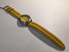 Vintage Reloj Watch Montre LOTUS MecaQuartz 38mm Steel WR 100M - Yellow