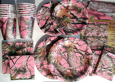 PINK HUNTING CAMO Birthday Party Pack Supply SUPER Kit w/ Invites & Reusable TC