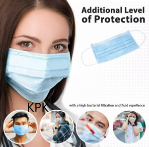 10 /15 / 20 High Quality Disposable Non Surgical Mask 3 PLY FLU MOUTH FACE MASKS