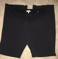 Next Wide Leg Black 12L Maternity Trousers Bottoms Pants With Elasticated Waist