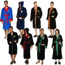 Mens Ladies Official Character Fleece Bathrobe Dressing Gown Robe