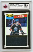 1980-81 Topps #182 Wayne Gretzky TL Oilers Graded 8.5 NMM (*G2020-022)