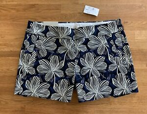 NEW J.Crew Factory Chino City Fit Floral Printed Shorts in Multi Womens Size 4