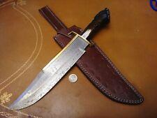 🔥XL Hefty Custom Bowie Knife Stag Bone Hunting Rifleman Survival Western Style