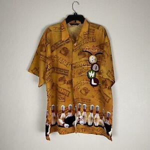 Vintage Bowling Button Up Shirt Rare Mens Size XL