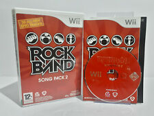 Rock Band Song Pack 2 (Wii, 2009) PAL Complete Brand New Case Disc Mint 2620