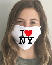 I Love NY Unisex Washable Cotton Face Mask/Covering USA Made SAME DAY SHIPPING
