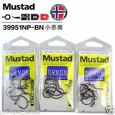 Bulk 3 Pack Mustad Demon Circle Hooks Size 5/0 - 39951NPBLN Chemically Sharpened