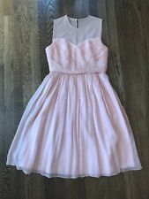 J Crew Pink 100% Silk Dress Party Wedding Bridesmaid Sz 6