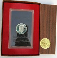 1971 Eisenhower U S Silver Proof Dollar/Limited Edition /S Mint / Brown Ikes