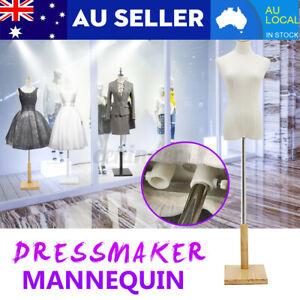 M-Size Female Mannequin Half Model Torso Adjustable Dressmaker Clothes Display H