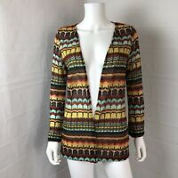 Xhilaration Open Front Knit Cardigan Small Medium Lightweight Chevron Zig Zag
