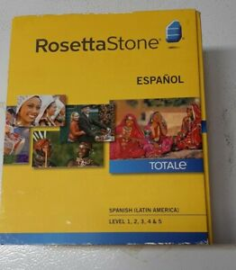 Rosetta Stone Spanish (Latin America) Espanol Version 3 Level 1-5 Set Ex Cond