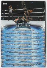 2019 Topps WWE Women's Division 10-Card Evolution Insert Complete Set